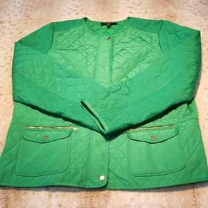 Talbots Petites Green Medium Weight Quilted Jacket